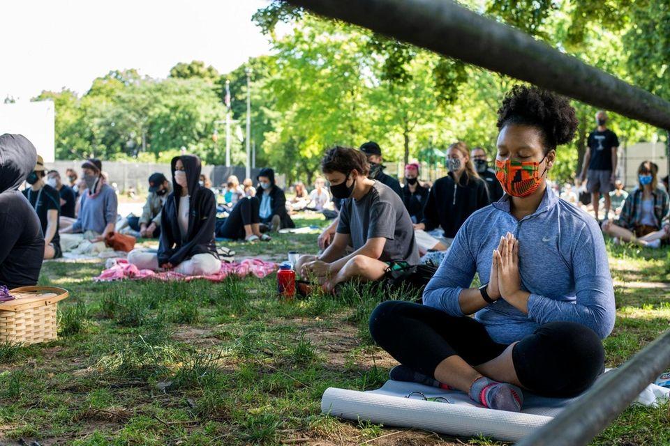 Meditating for Black Lives in Herbert Von King