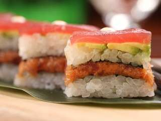 Spicy tuna Osaka style is on the menu