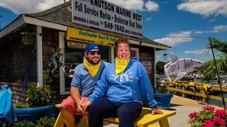 Rich and Katie Buttine, co-owners of Huntington Stand