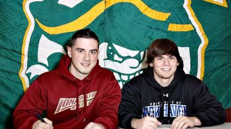 Chris Russo, left, and Nick Russo, right, of