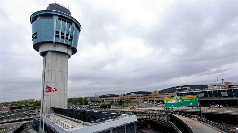 The newer control tower at Laguardia Airport belies
