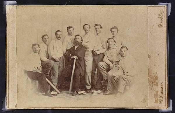A rare 1865 baseball card of the Brooklyn