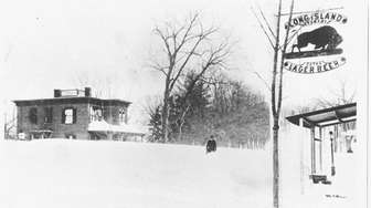Huntington, 1888: Snow covered the corner of Stewart