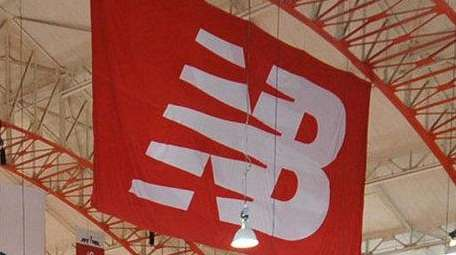 A New Balance flag is seen at the