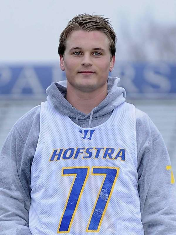 Hofstra University midfielder Adrian Sorichetti poses for a