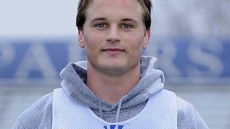 Hofstra University midfielder Adrian Sorichetti poses for a