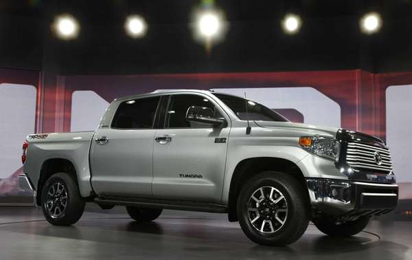 The redesigned 2014 Toyota Tundra is unveiled at