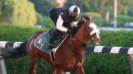 Belmont Stakes contender Tiz the Law breezes with