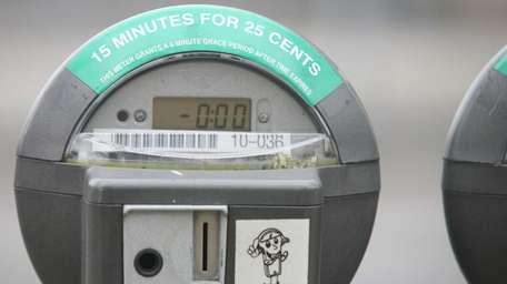 An expired parking meter. (Feb. 8, 2012)