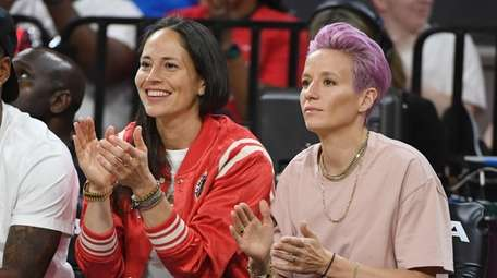 Sue Bird (L) of the Seattle Storm and