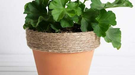 Twine lends an earthy, rustic vibe to planters.