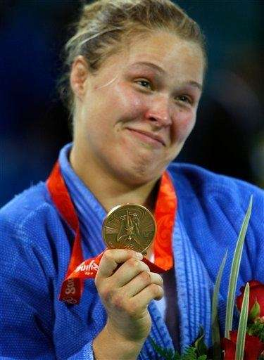 Bronze medalist Ronda Rousey of the United States