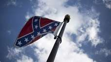 The Confederate flag at the South Carolina State