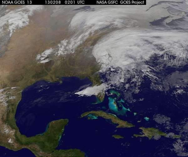 Satellite image taken at 9:02 EDT shows a