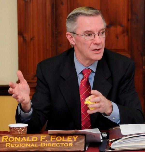 Regional Director of Parks, Ronald F. Foley addresses