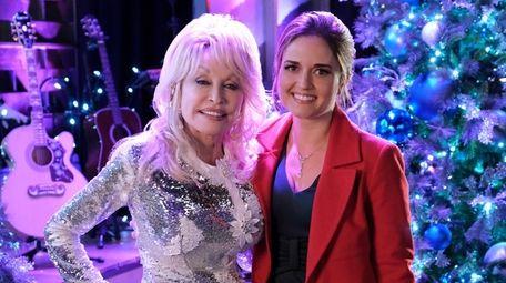 Dolly Parton, left, and Danica McKellar star in