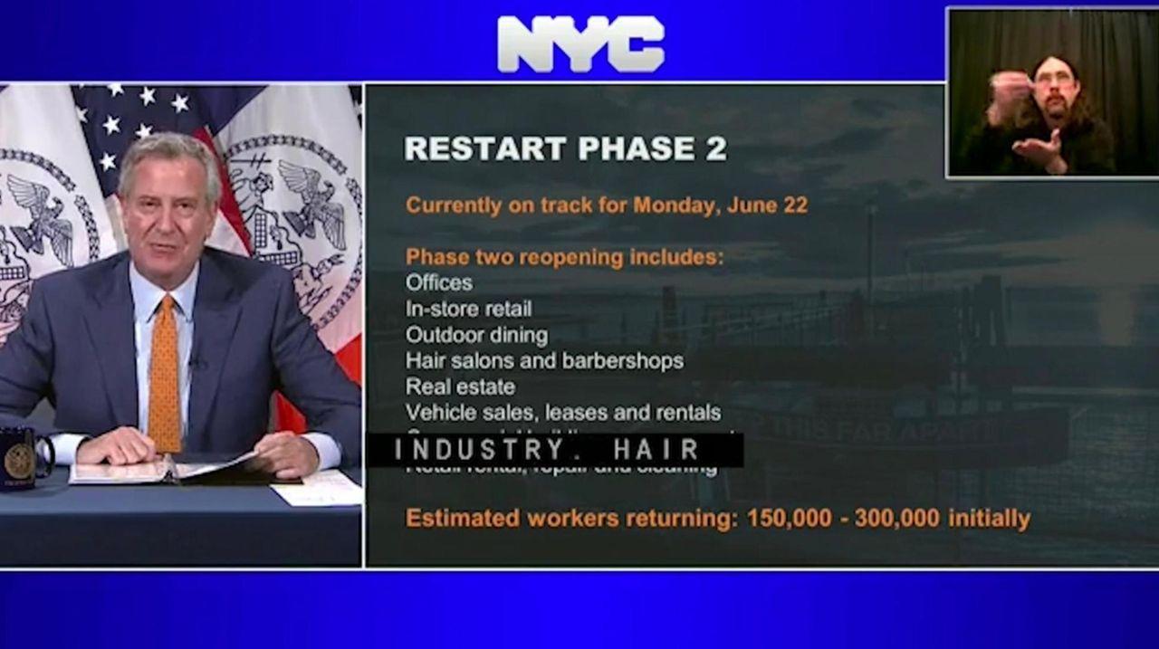 Mayor Bill de Blasio said Thursday New York
