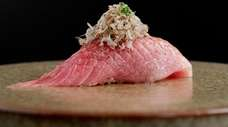 Otoro sushi from chef Mark Garcia at Kissaki,
