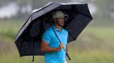 Brooks Koepka of the United States uses an