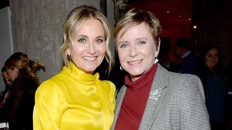 Maureen McCormick and Eve Plumb attend the