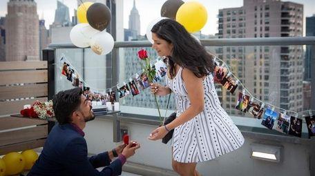 Dipen Shah, 30, proposes to his fiancé Trusha