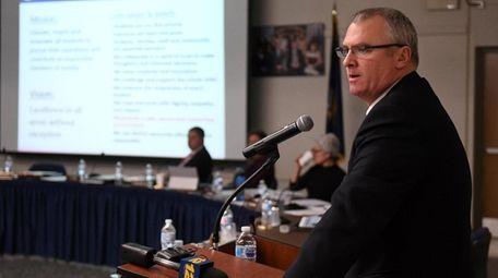 Superintendent Robert Banzer shut down Northport Middle School