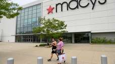 Customers leave Macy's at the Westfield South Shore