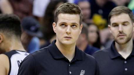 Will Hardy, a member of the Spurs coaching