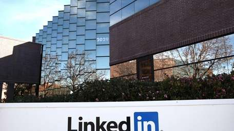 The LinkedIn headquarters in Mountain View, Calif. The