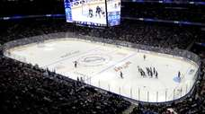 A general view of Amalie Arena during the