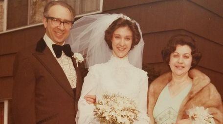 Nancy Lulli with her parents, Al and Ida,