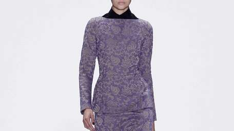 A lavender peplum dress reminded us that the