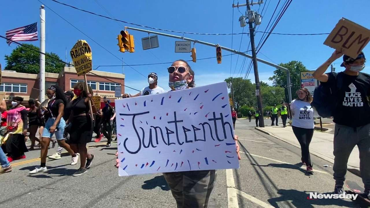 Juneteenth was observed across Long Island on Friday.