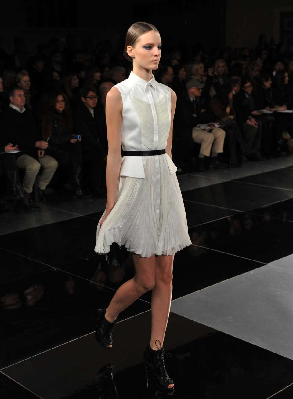 A model wears a design by Jason Wu