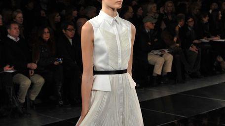 A model wears a design by Jason Wu