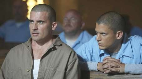 Dominic Purcell, left, and Wentworth Miller in a