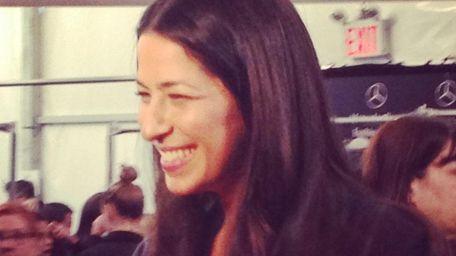Rebecca Minkoff backstage before her New York Fashion