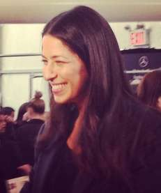 Rebecca Minkoff backstage before her New York Fashion