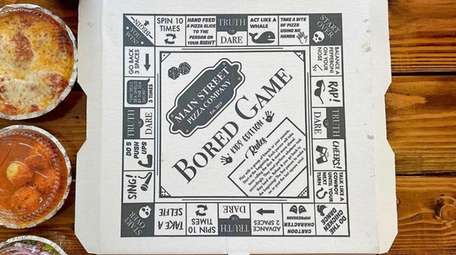 "The ""Board Game"" pizza box at Main Street"