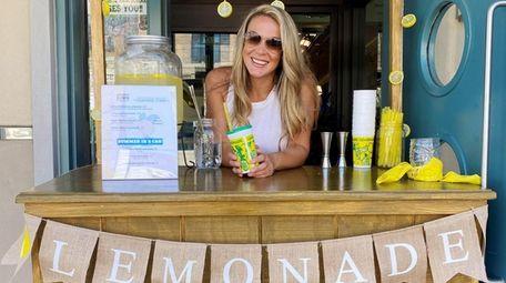 Alyson Kanaras opened an adult lemonade stand at
