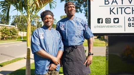 Co-chef Asim Henry and chef-owner Antoine Reid at