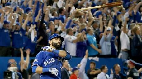 Jose Bautista of the Blue Jays makes his