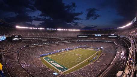 A general view of MetLife Stadium following a