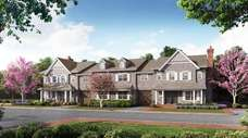 An exterior view of the townhomes at The