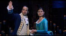 "Lin-Manuel Miranda and Phillipa Soo star in ""Hamilton,"""