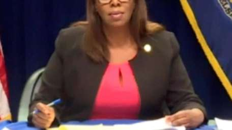 New York State Attorney General Letitia James questions