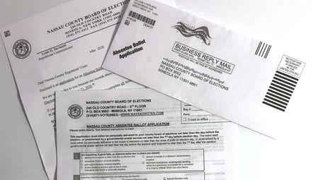 An application for an absentee ballot for Nassau