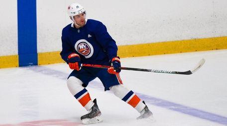 Devon Toews skates during an Islanders Phase 2