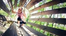 Kids can have fun climbing and crawling through