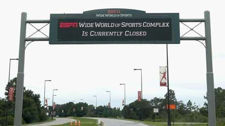 A sign at the entrance to ESPN's Wide